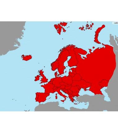 Europa - 130 x 100 cm - mapa polityczna Montessori