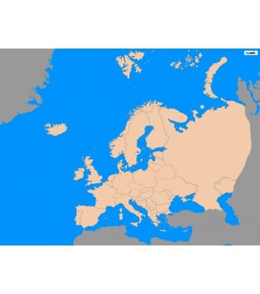 Europa - 200 x 135 cm - mapa polityczna