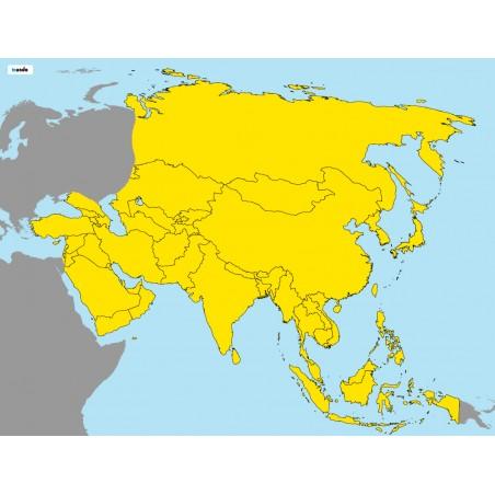 Azja - 130 x 100 cm - mapa polityczna Montessori