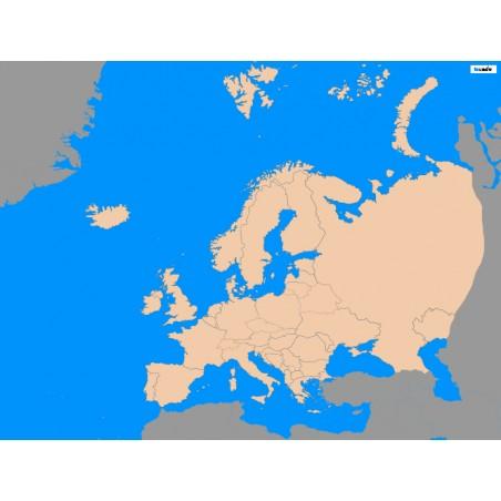 Europa - 130 x 100 cm - mapa polityczna