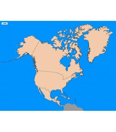 Ameryka Północna - 65 x 50 cm - mapa polityczna