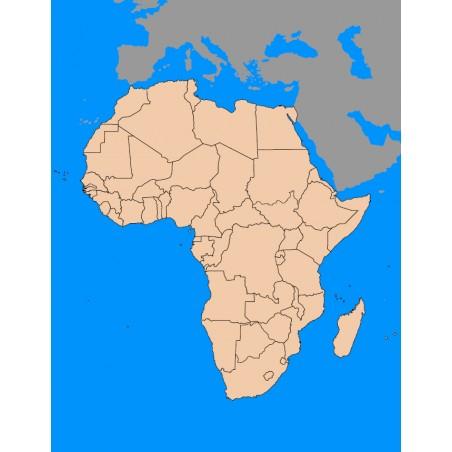 Afryka - 130 x 100 cm - mapa polityczna