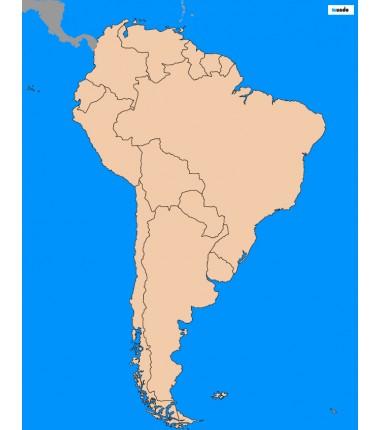 Ameryka Południowa - 65 x 50 cm - mapa polityczna