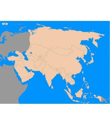 Azja - 65 x 50 cm - mapa polityczna