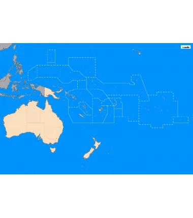 Australia i Oceania - 130 x 100 cm - mapa polityczna