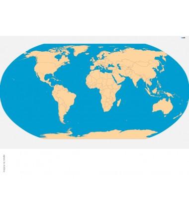 Polityczna Mapa Świata - 50 x 65 cm
