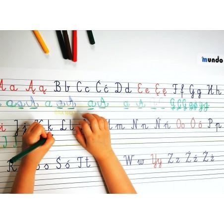 Alfabet - 65 x 50 cm - zmywalna mata do nauki pisania