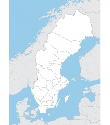 Szwecja - mapa administracyjna - 130 x 100 cm
