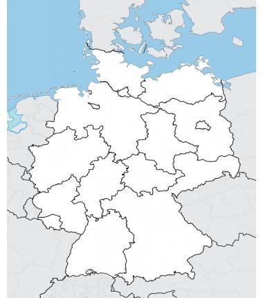 Niemcy - mapa administracyjna - 65x50 cm