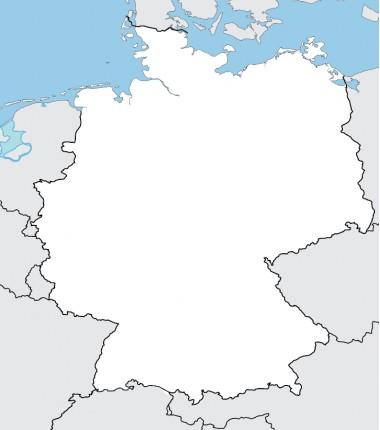 Niemcy - mapa konurowa - 130 x 100 cm
