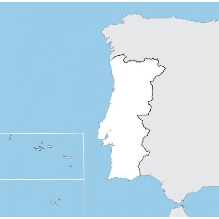 Portugalia - mapa konturowa - 65 x 50 cm