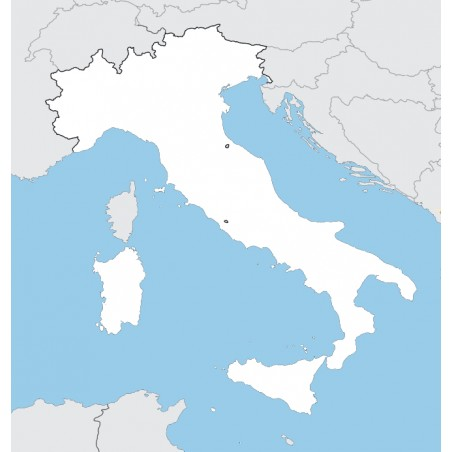 copy of Italy - washable contour map - 130 x 100 cm