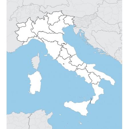 Włochy - mapa administracyjna - 130 x 100 cm