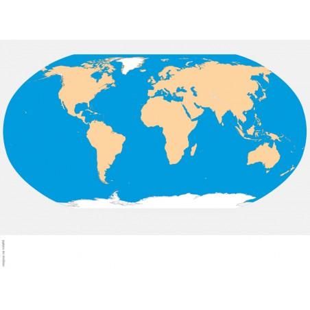 Mapa Świata  - 135 x 80 cm - mapa konturowa