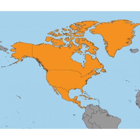 Ameryka Północna - 130 x 100 cm - mapa polityczna Montessori